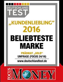 Unser Vergleichsportal ist ausgezeichnet! Kundenliebling 2016: Vergleich.de